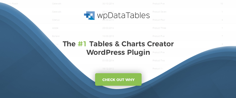 wpDataTables WordPress Plugins 2018