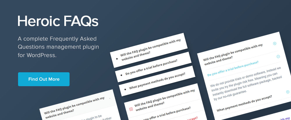 Heroic FAQs WordPress Plugins 2018