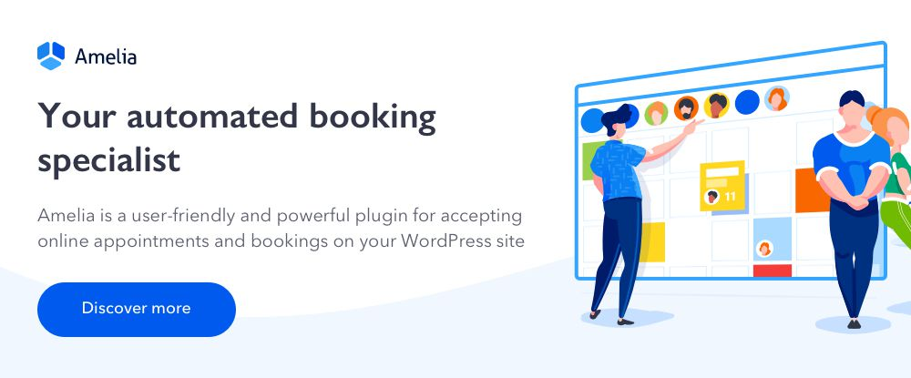 Amelia - Enterprise-Level WordPress Appointment Booking Plugin