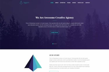 free website psd template and mockup resources
