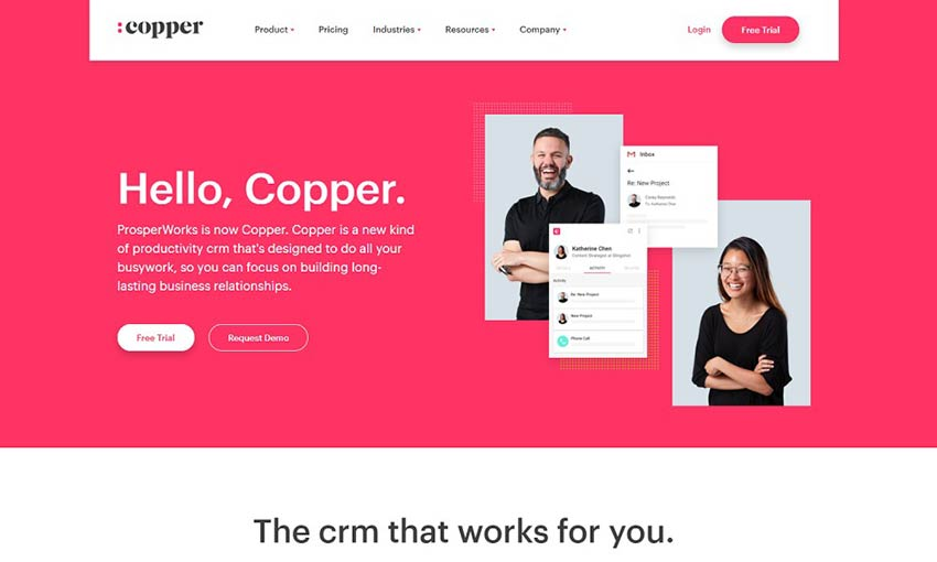 Copper light web design