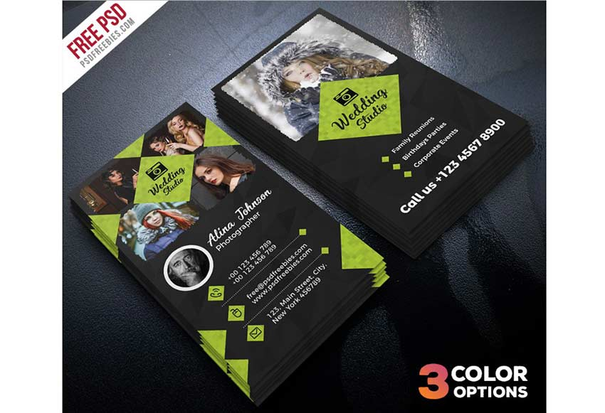 call card template