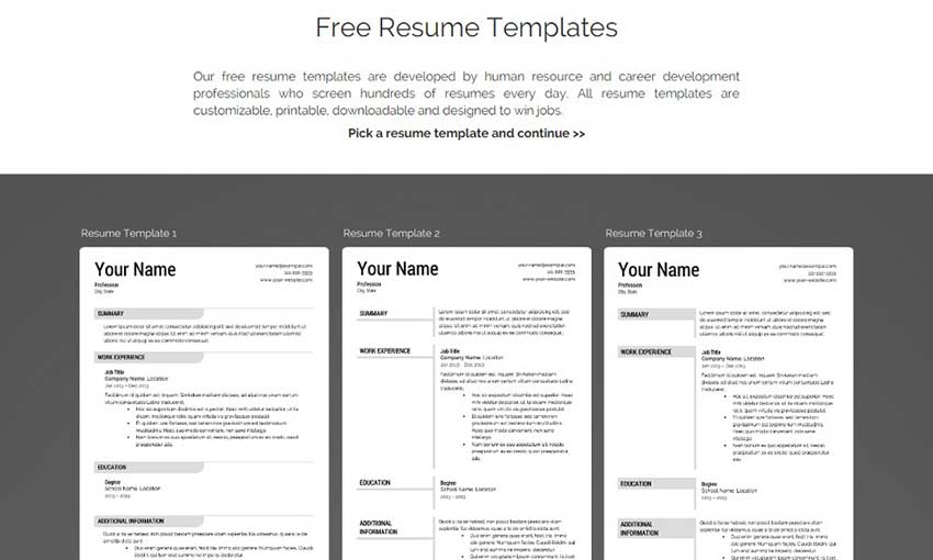 Stand Out With These Free Resume Templates 1stwebdesigner