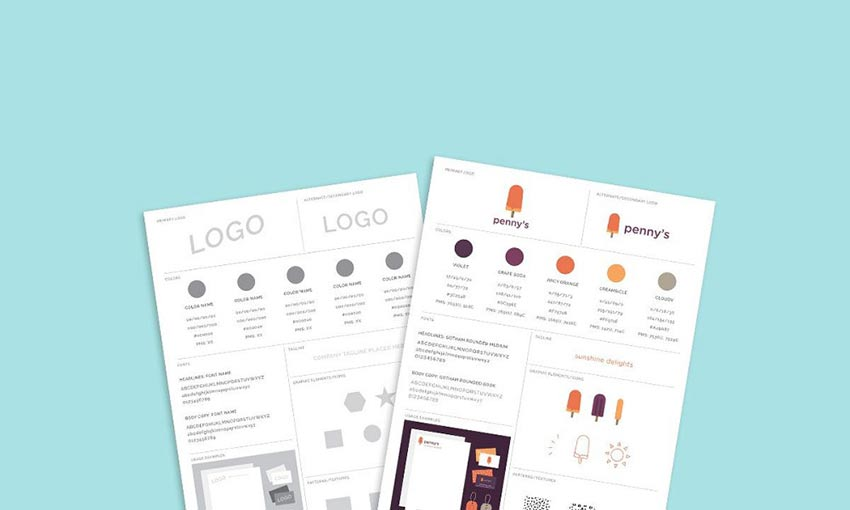 Freebie: Brand Style Guide Template