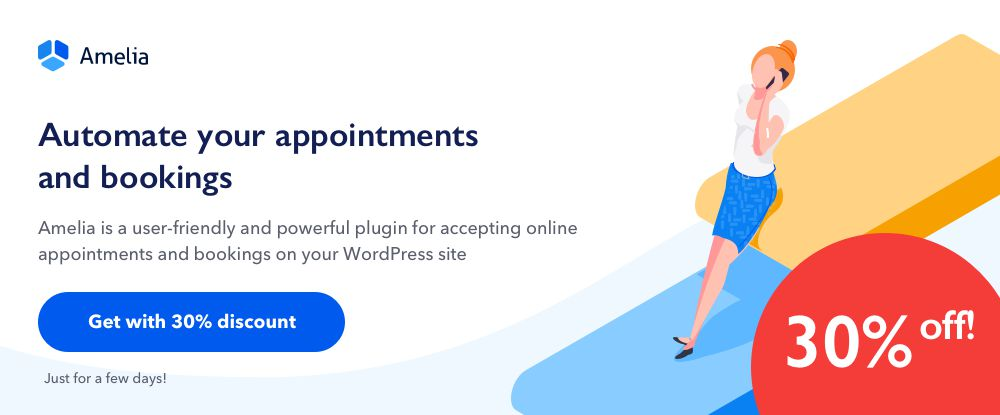 Amelia - An Enterprise-Level WordPress Appointment Booking Plugin