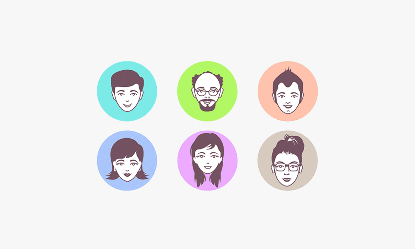 Male and Female Avatar Vector Faces