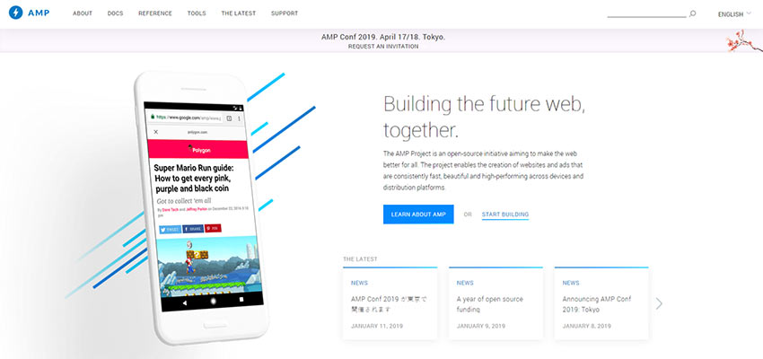 Google AMP Home Page