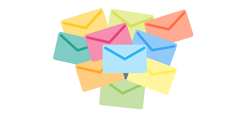 Illustration of Multicolor Envelopes