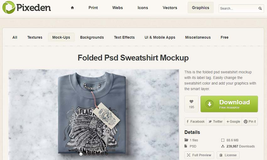 Folded Psd Sweatshirt Mockup