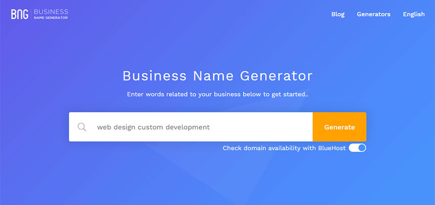 Let Business Name Generator Inspire You with AI - 1stWebDesigner
