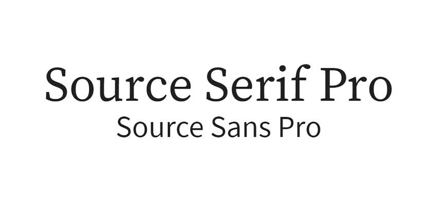 Source Serif Pro and Source Sans Pro