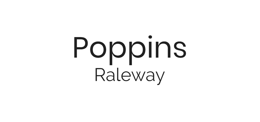 Poppins and Raleway