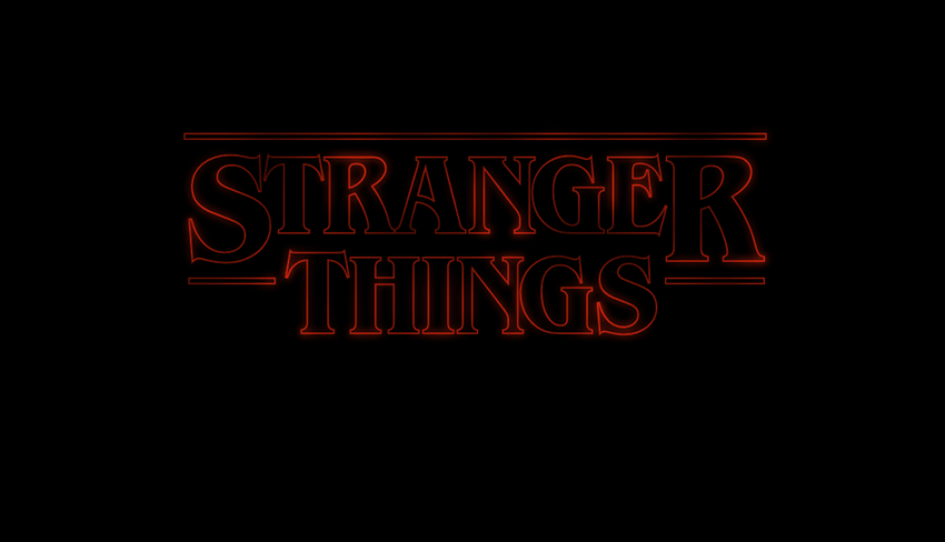 Stranger Things Logo in SVG