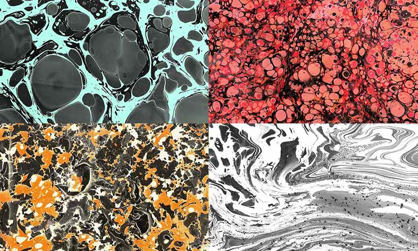 Example of Paper Marbling Textures Vol.3 by Aurora Prints & Goods