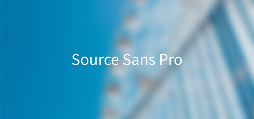 Example of Source Sans Pro