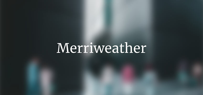Example of Merriweather