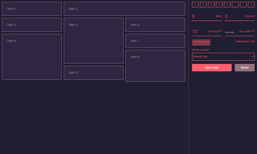 Interactive CSS Grid Layout Generators