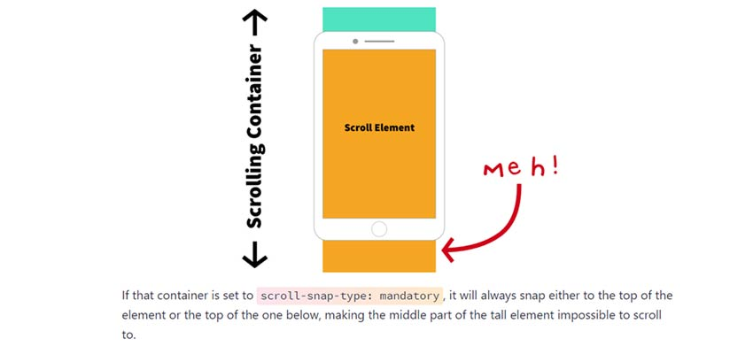 'Practical CSS Scroll Snapping' from CSS Tricks.