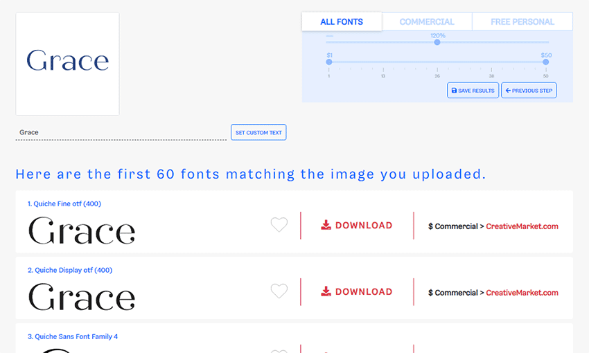 Example of Font Finder