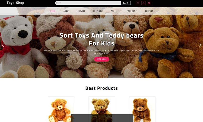 Example of Toys Shop