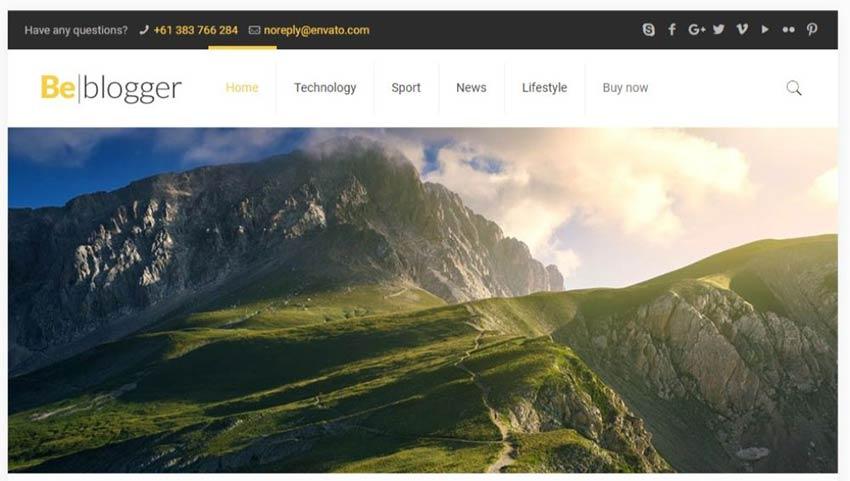 BeTravelBlogger WordPress Theme