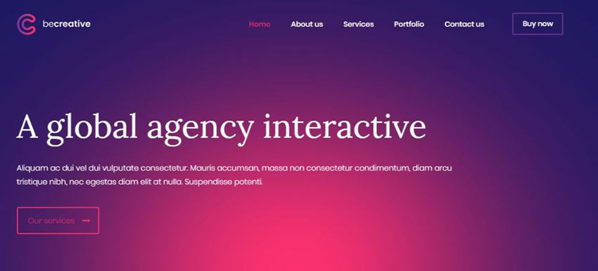 BeCreative WordPress Theme