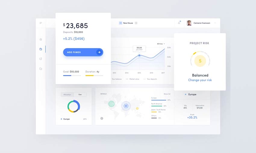 Example of Robo Advisor Web App by Michal Parulski