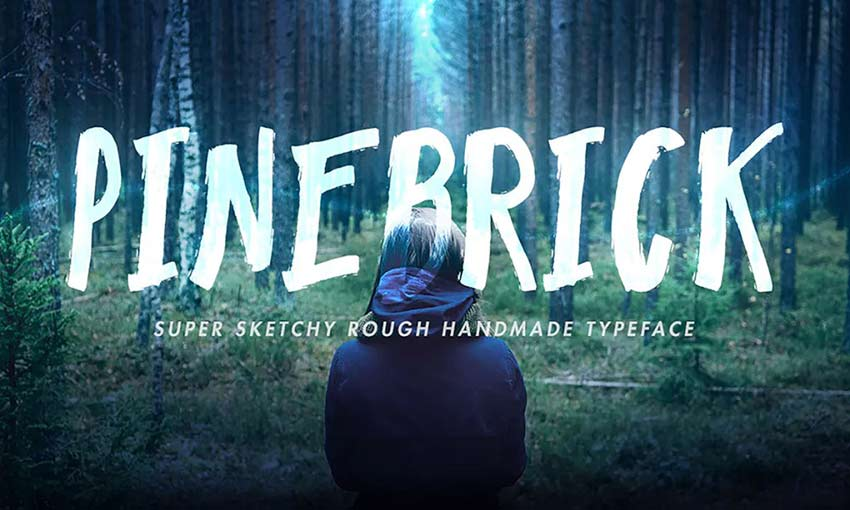 Example of Pinebrick Typeface