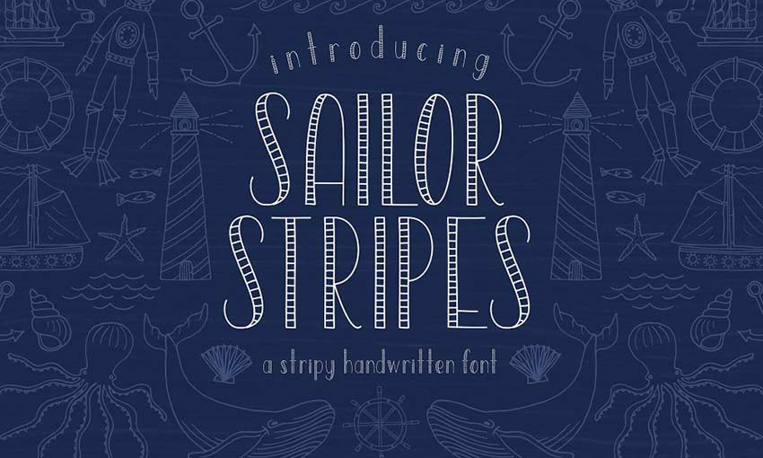Example of Sailor Stripes by On the Mark Designs