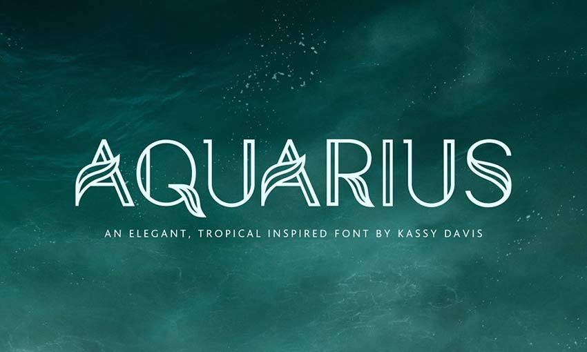 Example of Aquarius – A Tropical Font Family by IconsByKassy