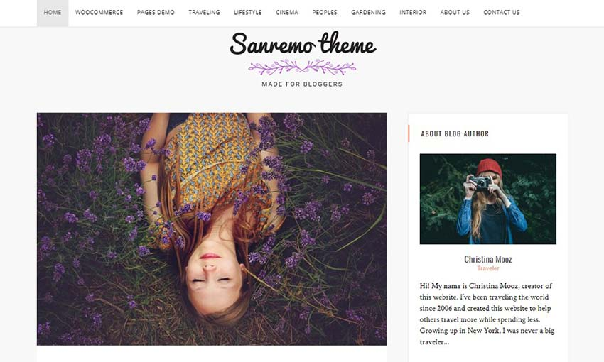 Sanremo WordPress Theme