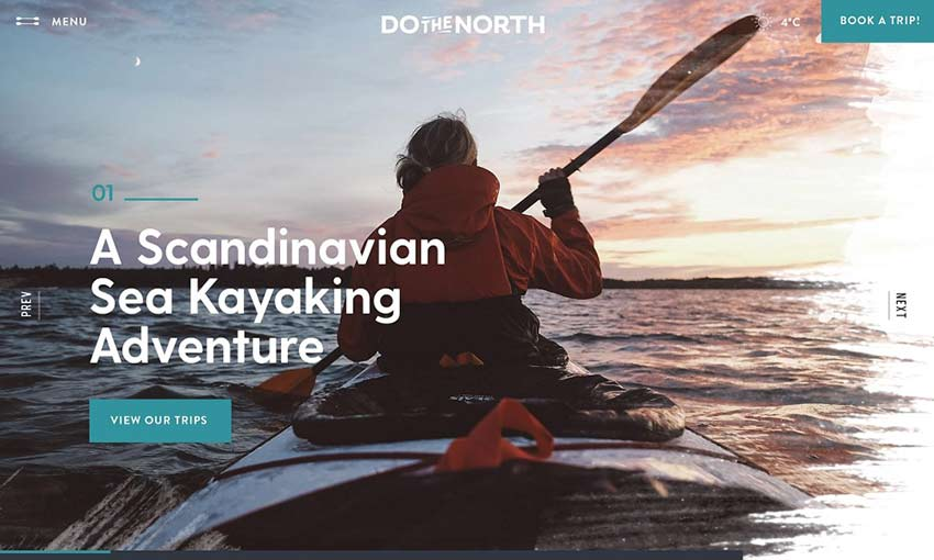 Example of Kayaking Trip Site