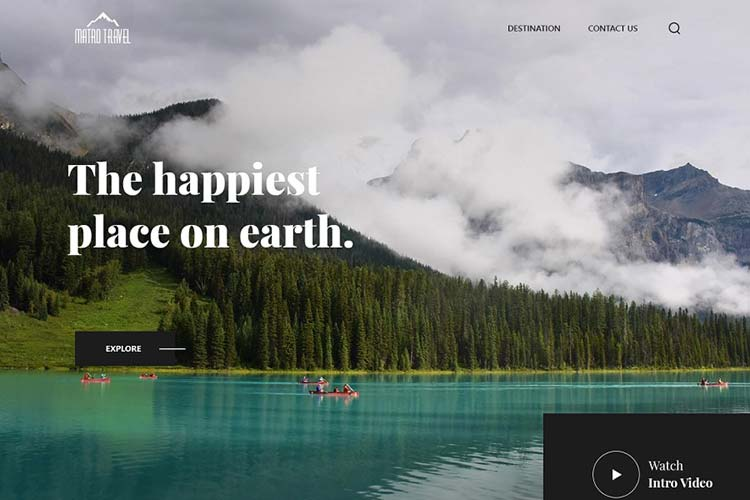 Travel Website Design Inspiration