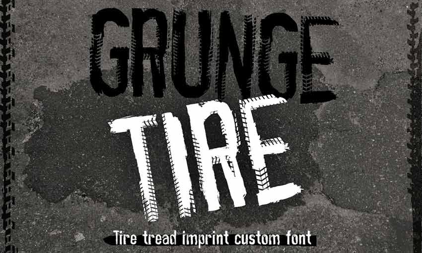 Example of Grunge Tire by Just Type It