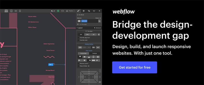 Example of Webflow