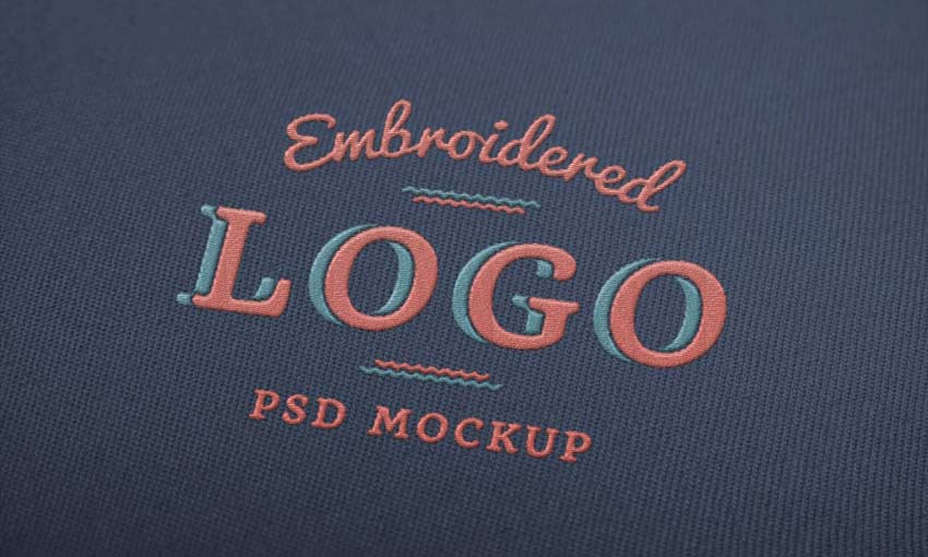 Example of Embroidered Logo MockUp