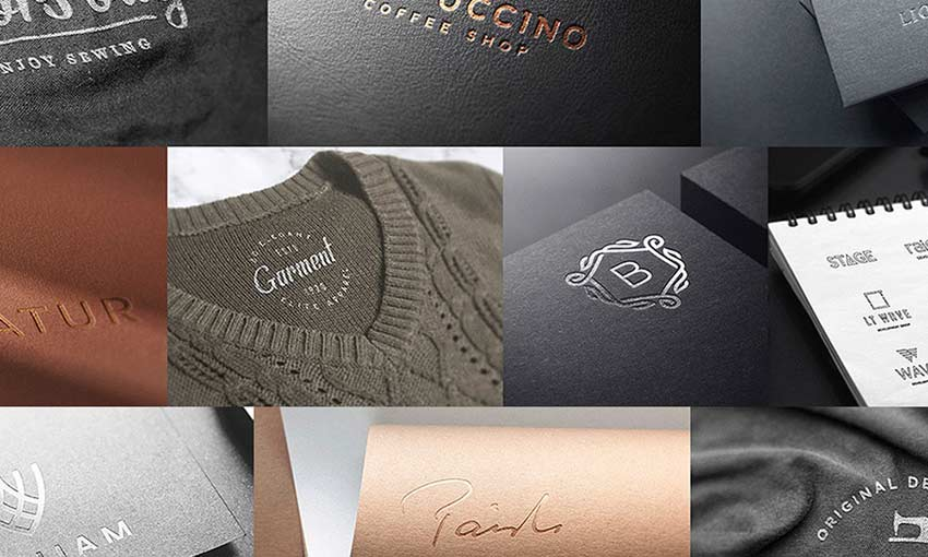 Example of 30 Free Realistic Logo Mockups by Pixel Surplus and Asylab Design
