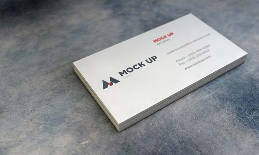 Example of Realistic Business Card MockUp #2