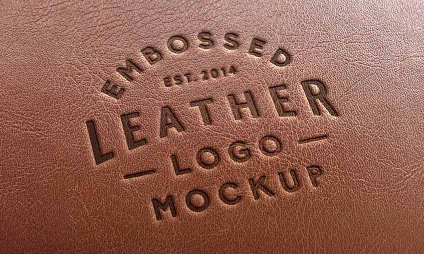 Example of Leather Stamping Logo MockUp #2