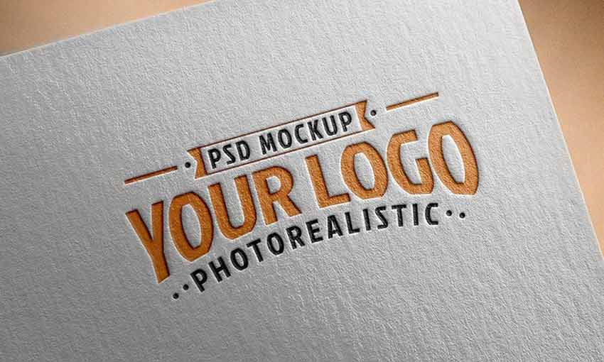 Example of Paper Logo Mockup