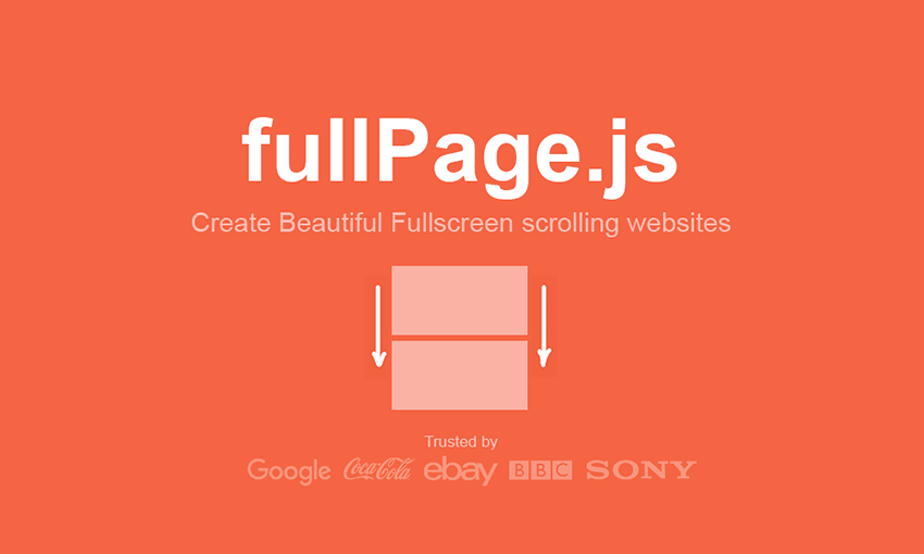 Example of fullPage.js