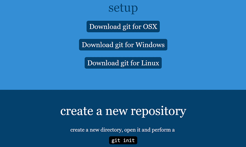 Example from git - the simple guide