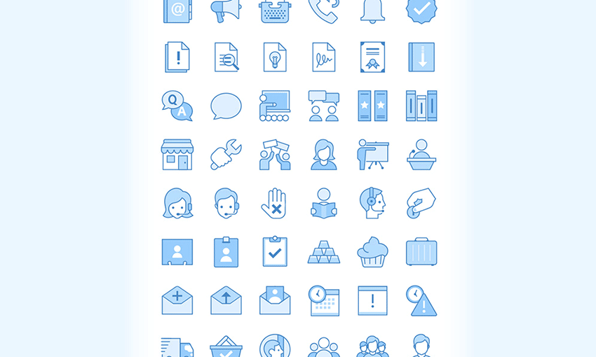 Example of Ultraviolet: 60 Business Icons