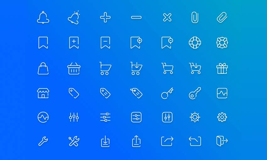 Example of Free Ecommerce Icon Pack