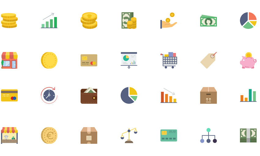 Example of Business Collection Icon Pack