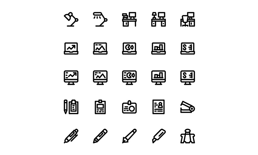 Example of Smashicons: 80 Material Office Icons