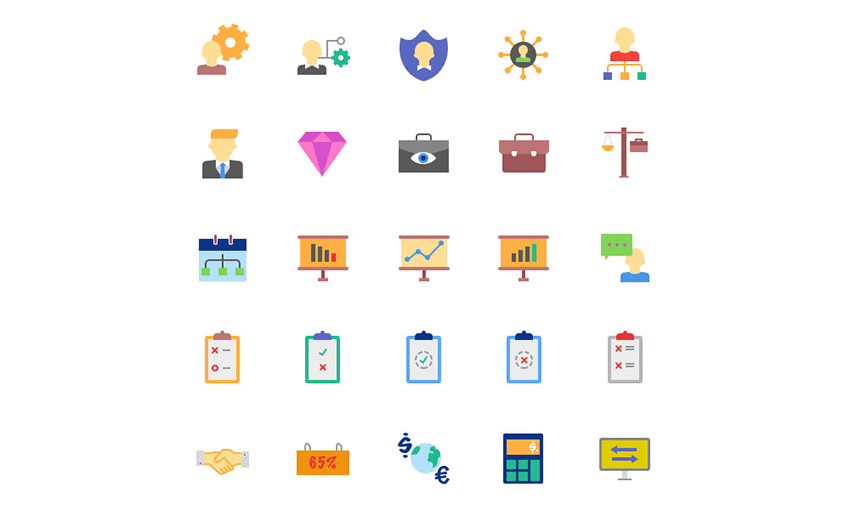 Example of Magicons: 100 Business Icons
