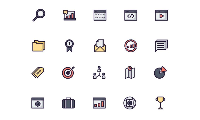 Example of Seo Icons Icon Pack