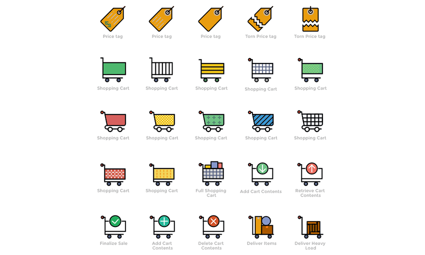 Example of Smashicons: 170 Retro Business Icons