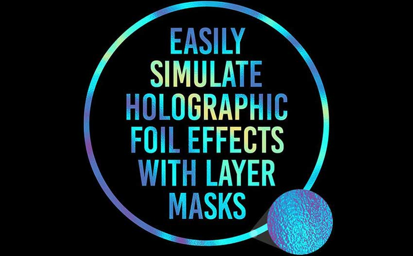Example of 10 Free Textures To Simulate Holographic Foil Print Effects